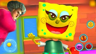 SCARY SPONGE Neighbor 3D - Secret Escape Games - Gameplay - Walkthrough [Android - IOS]
