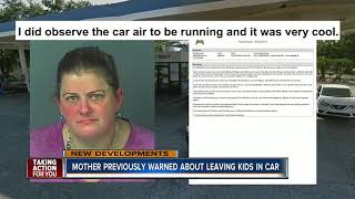 Mother charged with murder for leaving baby in hot car was in trouble before for leaving kids in car
