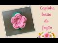 🔴Versão destros Capinha lila para botão de fogão em crochê Elisa Crochê