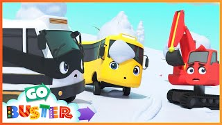 Snow Ball Fight! - Buster and Bandit Work Together As A Team