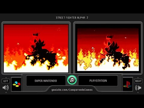 Street Fighter Alpha 2 (Snes Vs Playstation) Side By Side Comparison