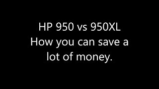 HP 950 vs 950xl the difference explained.