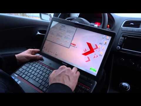активация функции -  объём пустого пространства бака, VW polo sedan