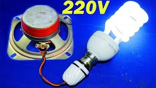 Free Electricity Generator 220V CFL AC Energy Light Bulb Generator With Speaker science experiment 2