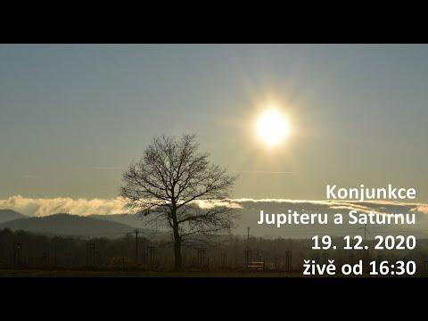 Konjunkce Jupiteru a Saturnu živě 19. 12. 2020