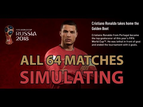 All 64 Matches Simulation Results - 2018 FIFA World Cup - 1080p ✔️