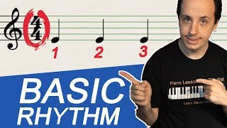 Your FIRST Rhythm Lesson:  Beats, Time Signatures, Tempo