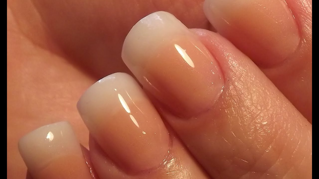 Natural Acrylic Nails * DivaDC Natural Powder * - YouTube