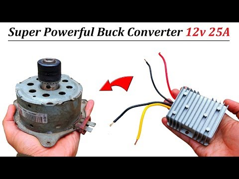 how-to-run-12v-25-amps-dc-motor-at-48v-dc-using-buck-converter---review