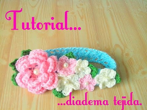 Crochet Tutorial On Dailymotion : Download video: Crochet : Diadema tejida para bebe.