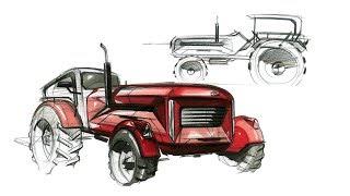 Tractor Sketch & Design