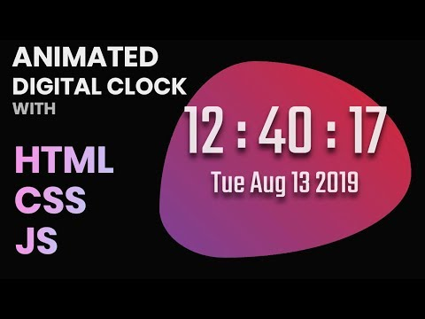 #3 Create an Animated Digital Clock with HTML, CSS and JavaScript thumbnail