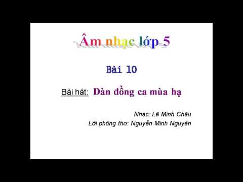 Dàn đồng ca mùa hạ   Lê Minh Châu,Nguyễn Minh Nguyên