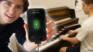 Charging a Phone With a Piano