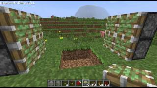 ► Minecraft: Redstone Tutorial 2x2 Trap Doors/Secret Entrance Using Pistons