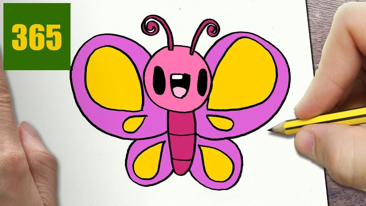 Come Disegnare Farfalla Kawaii Passo Dopo Passo Disegni Kawaii