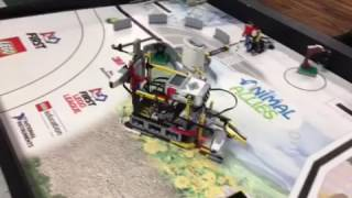 FLL 2016 Animal Allies Bayou Builders' robot Shark Byte 241 points (2017 FLL World Festival)