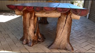 Rustic Outdoor Table, Woodworking with a Chainsaw
