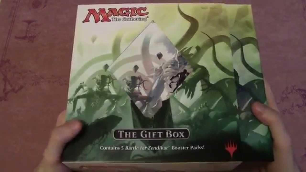 mtg battle for zendikar holiday gift box unboxing youtube