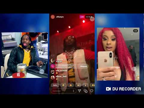 """""""Father Of 4"""" Album Release Offset Fr Migos Listening Party With Cardi B + Quavo + Takeoff"""