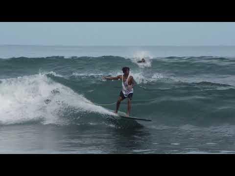 Isla Chora, Playa Samara, Longboard surfing w/ Dorian Torres