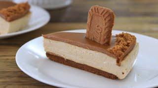 No-Bake Lotus Biscoff Cheesecake Recipe  Cookie Butter Cheesecake Recipe