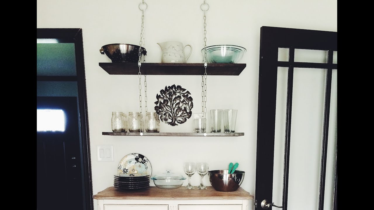 Etagere Bois Originale - Instant Interiors DIY Hanging Chain Shelf YouTube