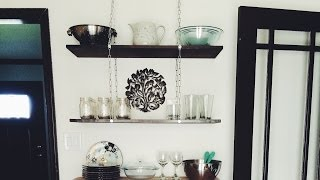 Instant Interiors: Diy Hanging Chain Shelf