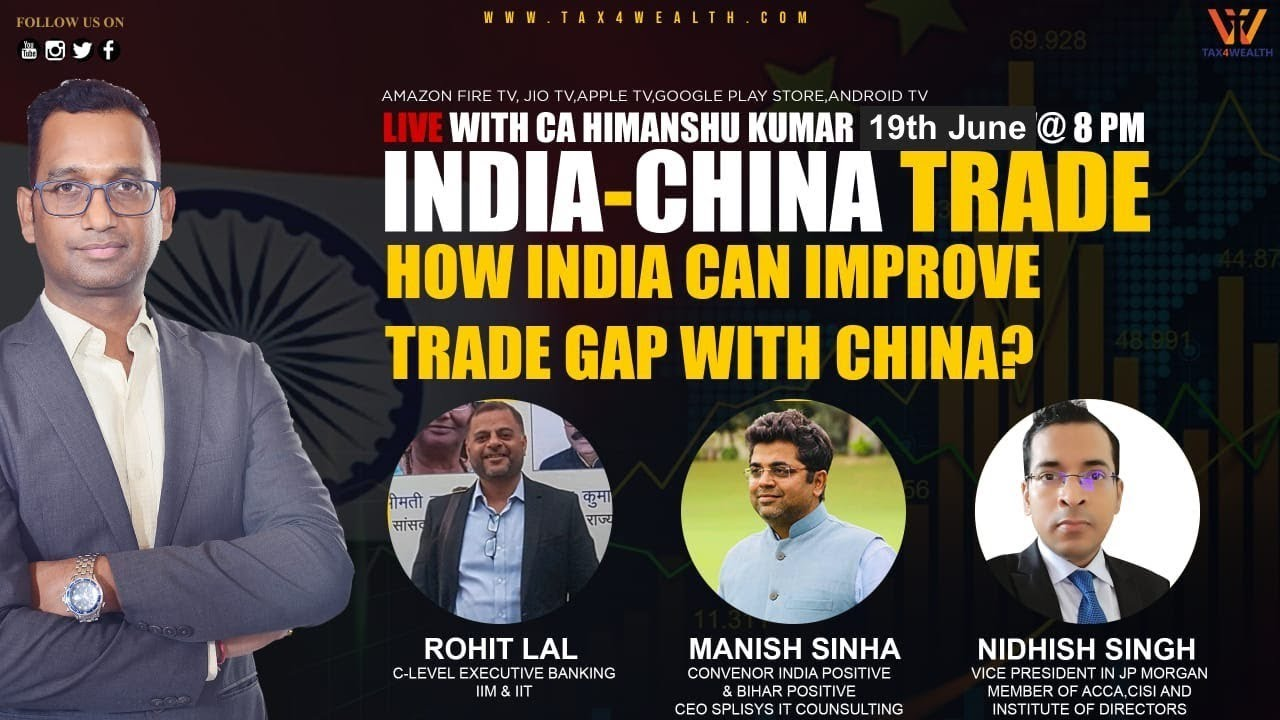 Watch live at 8:00 PM : Is Boycott of Chinese Goods The only way to Tackle The Trade Gap