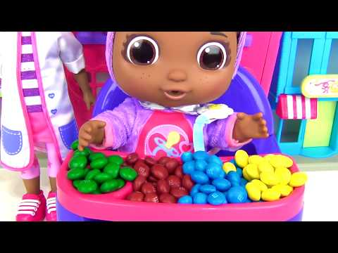 Thumbnail: Get Well Baby CECE, Doc McStuffins Playset, Eat, Drink, Pacifier Learn Colors M&M's Candies TUYC