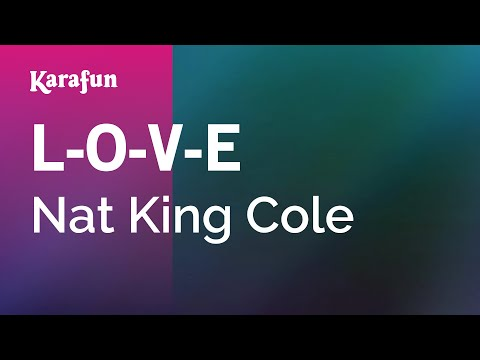 Karaoke LOVE  Nat King Cole *