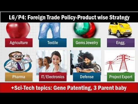L6/P4: Foreign trade policy 2015: product-wise strategy: IT,Engineering,Pharma