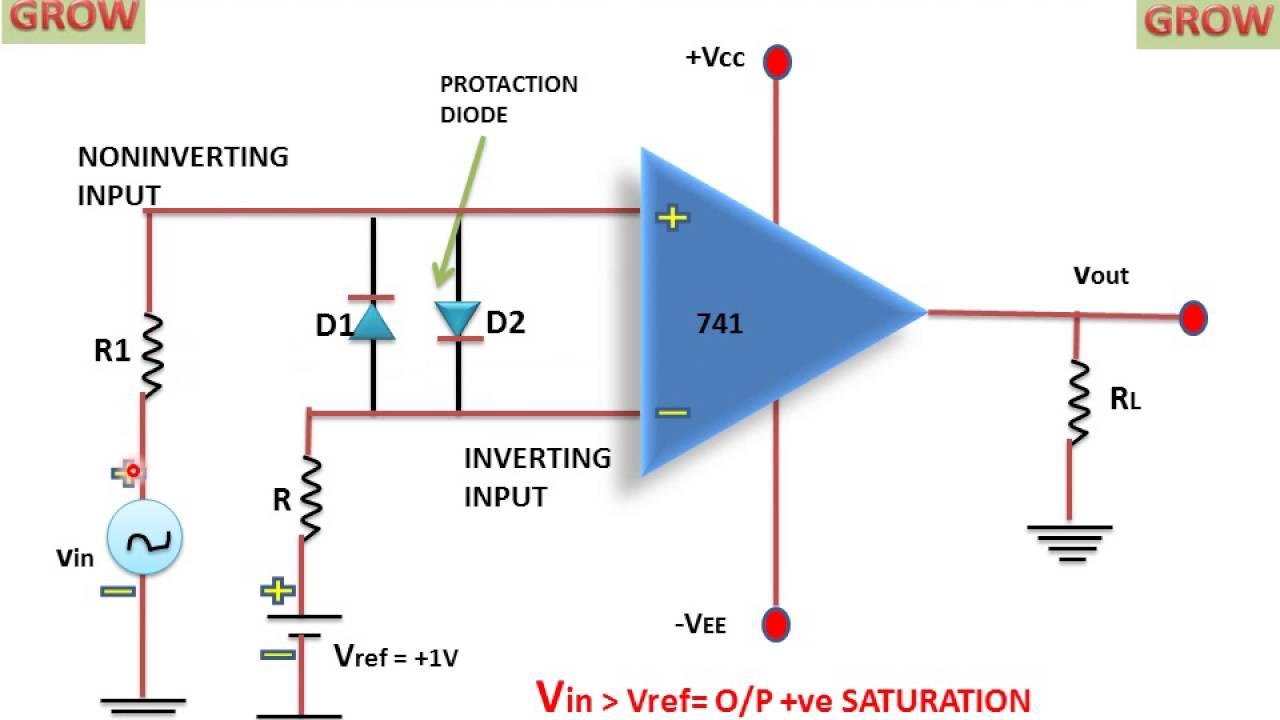 non inverting comparator circuit youtube