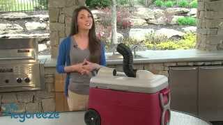 Portable Air Conditioner & Cooler. Keeps You And Your Drinks Cool!