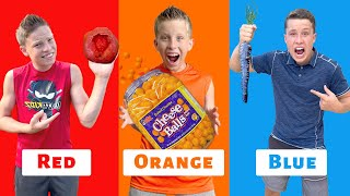 EATING ONLY ONE COLORED FOOD FOR 24 HOURS!