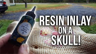 RESIN INLAY Tutorial for Skull Carving!