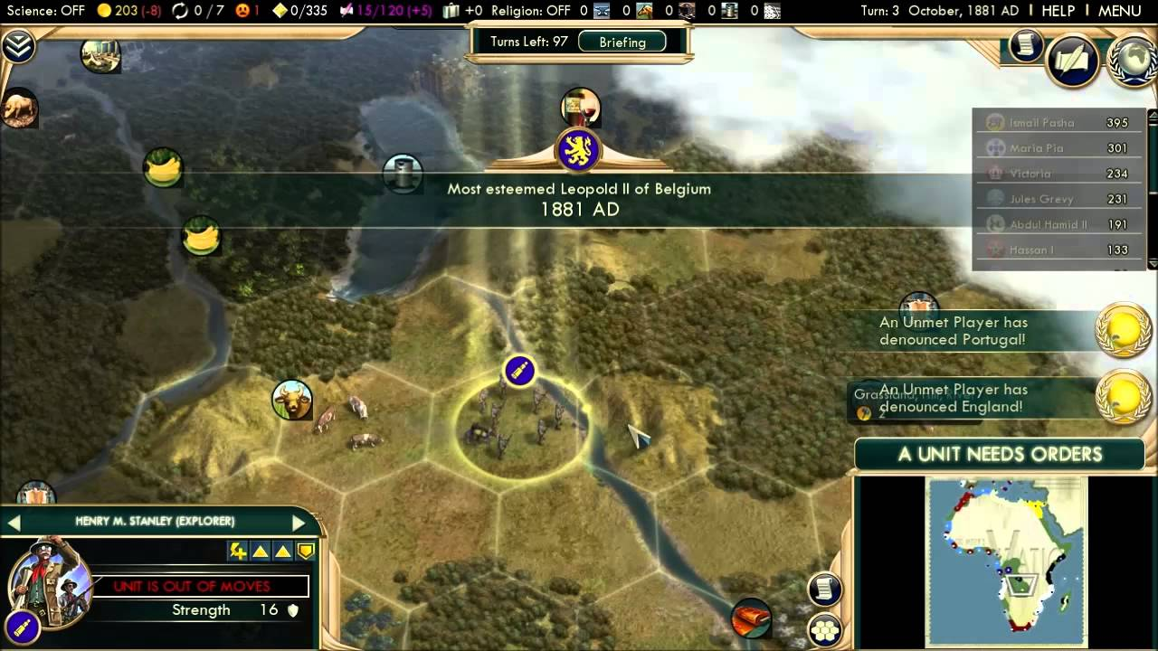 Civilization V   Dr Livingstone I Presume? Achievement   YouTube