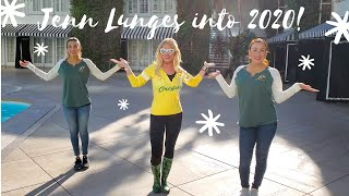 Jennifer lunges her way into the 2020 New Year!