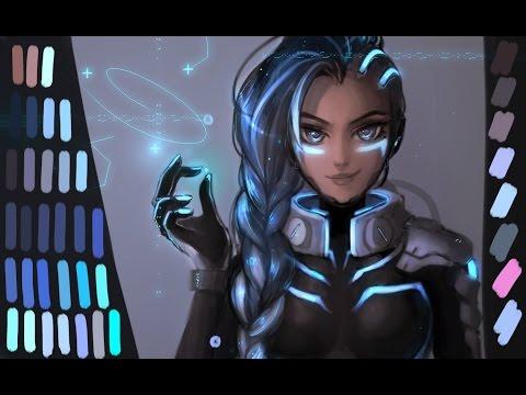 Cyberspace SOMBRa!!!!!!!!!! overwatch speed art