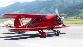 Beechcraft D17S Staggerwing Engine Start Up