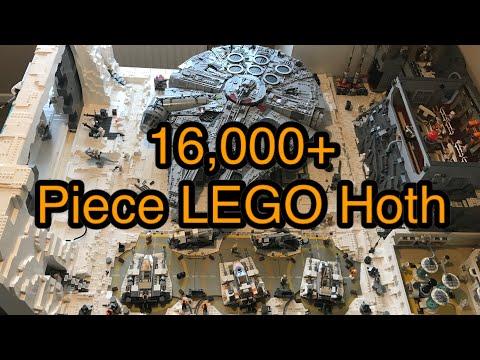 Star Wars : un fan reproduit l'Echo Base de la planète Hoth en Lego
