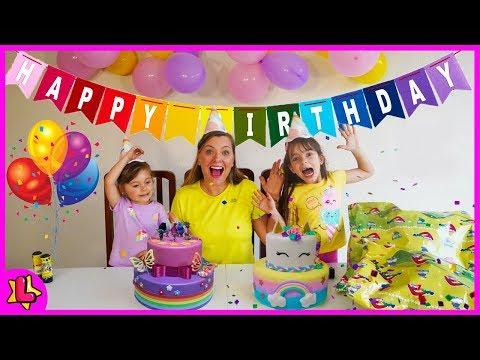 LAURINHA AND HELENA PREPARING BIRTHDAY SURPRISE FOR MAMA