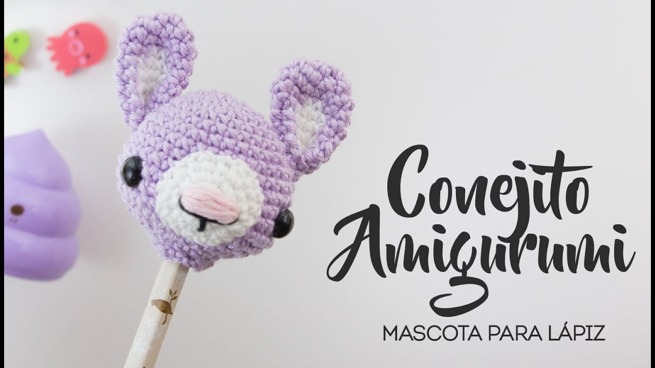 Lapiz de UNICORNIO tejido a crochet - Accesorio amigurumi - YouTube | 720x1280