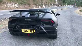 Monaco tunnel run inside the matte black Lamborghini Huracan Performante!