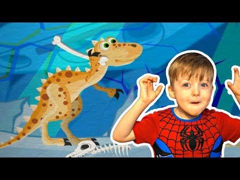 Детям про Динозавров Приключения ТИРЕКСА Мультик про Динозавров  для Детей Lion boy