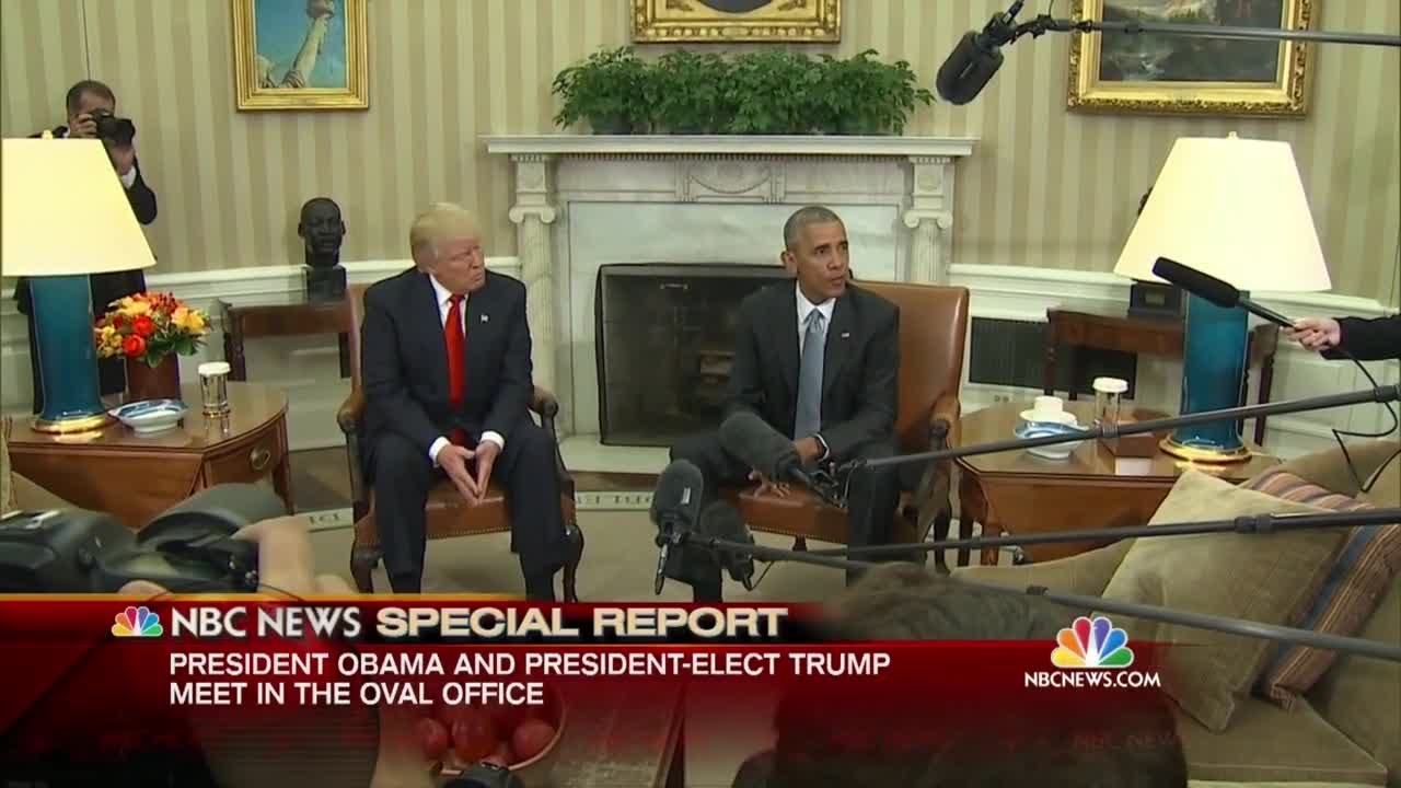 the oval office white house. President Obama Meets With President-elect Donald Trump At White House In Oval Office - YouTube The