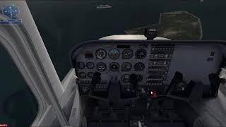 Cessna-Landing İsland-Flight Simulator X