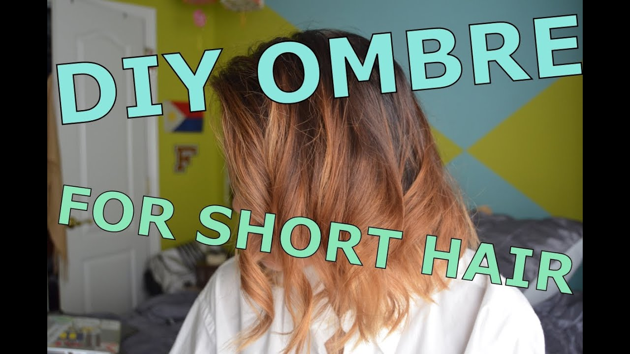 Diy ombr for short hair youtube solutioingenieria Image collections