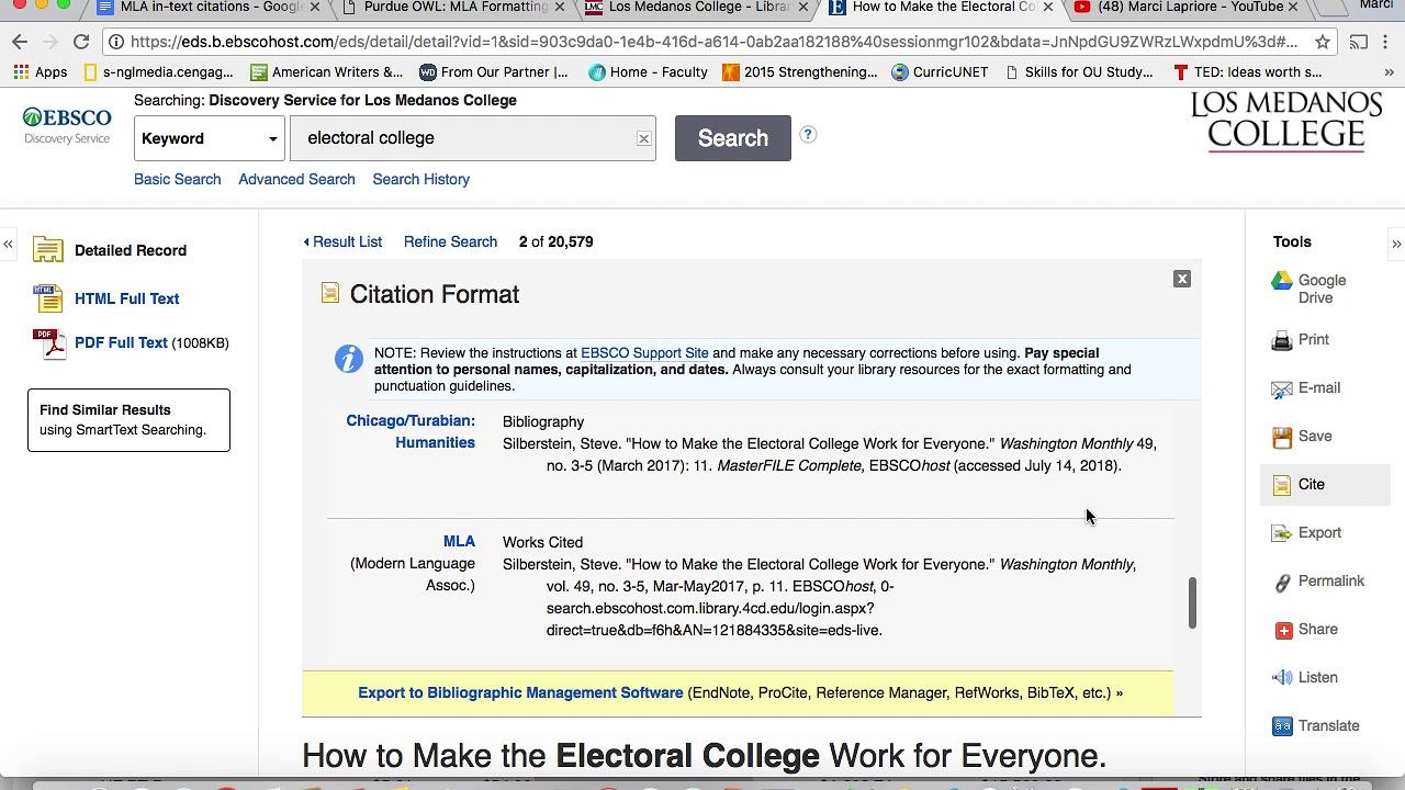 mla citation tool