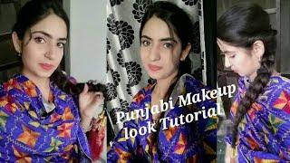 Punjabi Makeup look/Makeup tutorial/Punjaban look/Punjabn make-up look/how to do makeup for punjabn